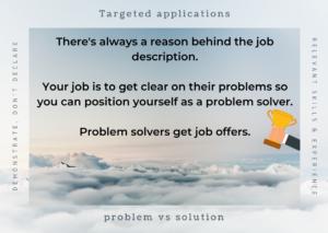 target CV, job search application, applying for jobs, resume, tailored CV