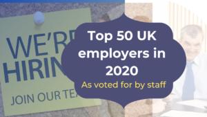top 50 uk employers 2020